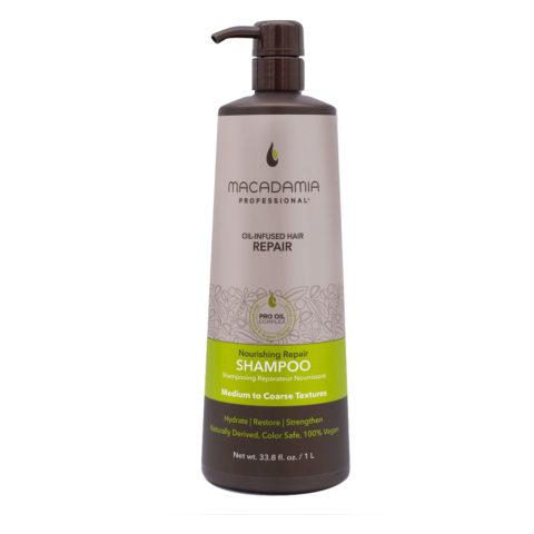 Macadamia Nourishing Repair Shampoo für trockenes und strapaziertes Haar 1000ml