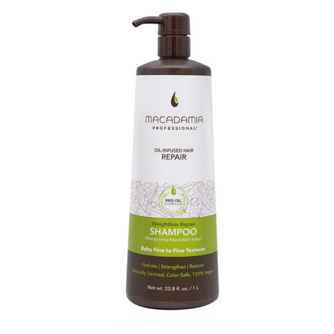 Macadamia Weightless Repair Shampoo 1000ml