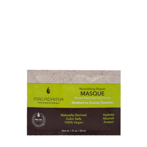 Macadamia Nourishing Repair Masque 30ml - Feuchtigkeits- und reichhaltige Maske für mittleres bis dickes Haar