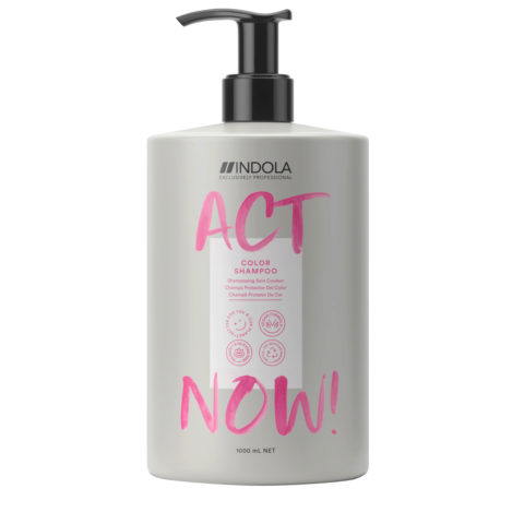 Indola Act Now! Color Shampoo Für Gefärbtes Haar 1000ml