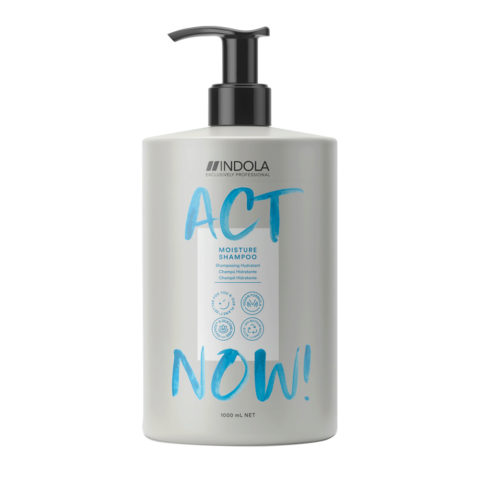 Indola Act Now! Moisture Shampoo Für Trocknes Haar 1000ml