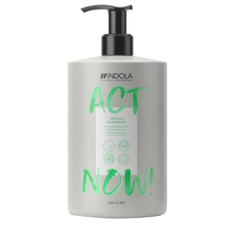 Indola Act Now! Repair Shampoo Für Geschädigtes Haar 1000ml