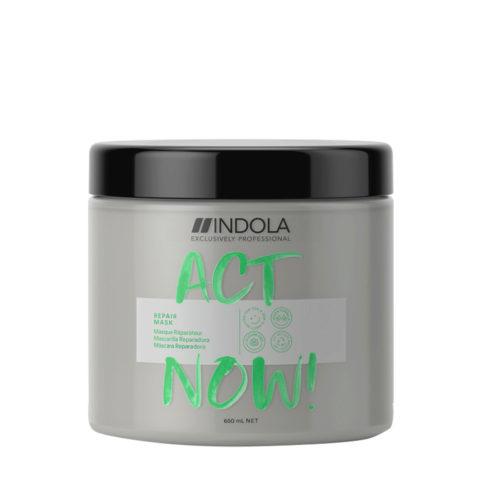 Indola Act Now! Repair Beschädigte Haarmaske 650ml