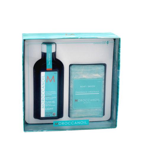 Moroccanoil Geschenkpackung Leichtöl 100ml und Körperseife 200gr
