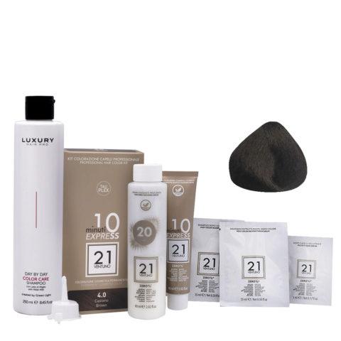 21 Ventuno Professionelles Farbkit 4.0 Braun + Gratis Shampoo 250ml