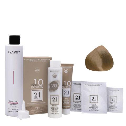 21 Ventuno Professionelles Farbkit 9.0 Sehr Hellblonde + Gratis Shampoo 250ml