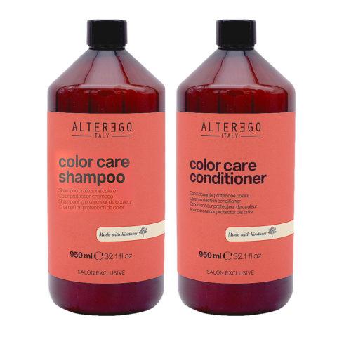 Alterego Kit Farbiges Haar Shampoo 950ml und Conditioner 950ml