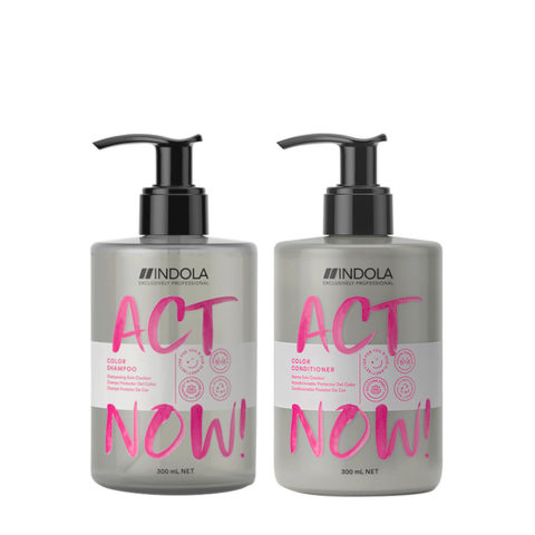 Indola Act Now Shampoo 300ml Und Conditioner 300ml Gefärbtes Haar