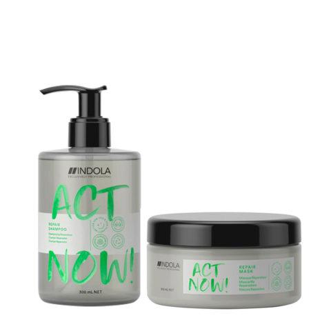 Indola Act Now Geschädigtes Haar Shampoo 300ml Und Restrukturierungsmaske 200ml