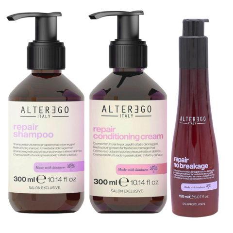 Alterego Repair Set Shampoo 300 ml, Maske 300 ml und Serum für geschädigtes Haar 150 ml