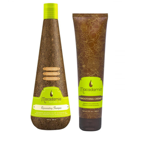 Macadamia Feuchtigkeitsset trockenes Haar Shampoo 300ml Anti-Frizz Creme 148ml