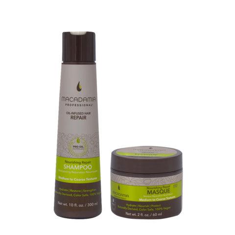 Macadamia Set Beschädigtes Haar Shampoo 300ml und Maske 60ml