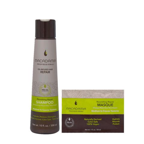 Macadamia Set Beschädigtes Haar Shampoo 300ml und Maske 30ml