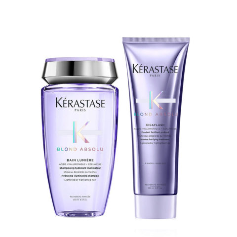 Kerastase Blond absolu Kit Shampoo 250ml Cicaflash Conditioner 250ml