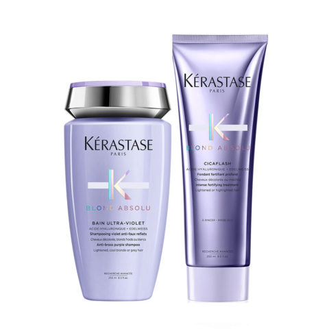 Kerastase Blond absolu Kit Bain ultra violet 250ml Cicaflash Conditioner 250ml
