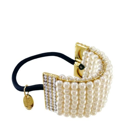 VIAHERMADA Schwanzclip mit Perlen und Strass