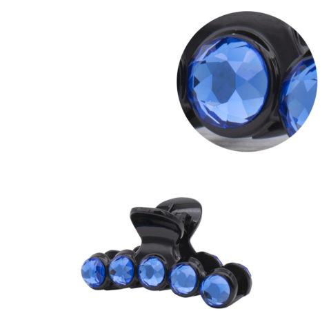 VIAHERMADA  Haarzange mit blauen Kristallen