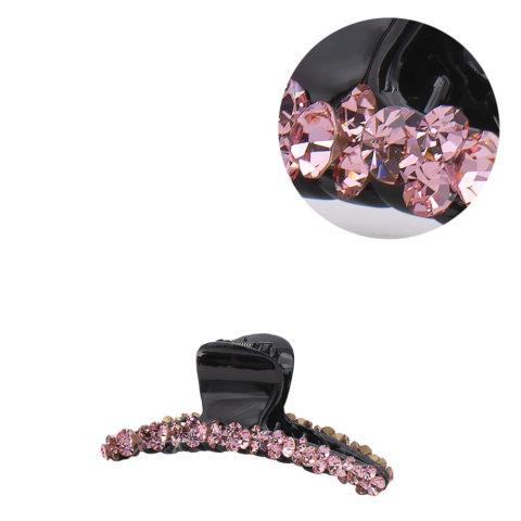 VIAHERMADA Haarzange mit rosa schrägen Kristallen