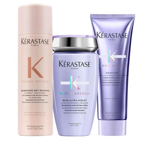 Kerastase Fresh Affair + Blond Absolu Set für blondes und gebleichtes Haar