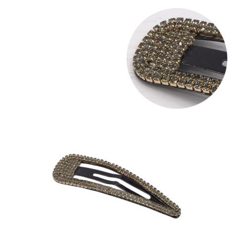 VIAHERMADA Elegante Clic Clac Haarspange mit anthrazitfarbenem Strass
