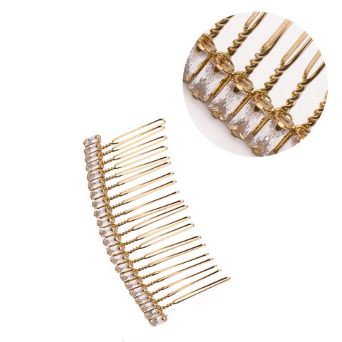 VIAHERMADA Goldkamm-Haarspange mit Kristallen