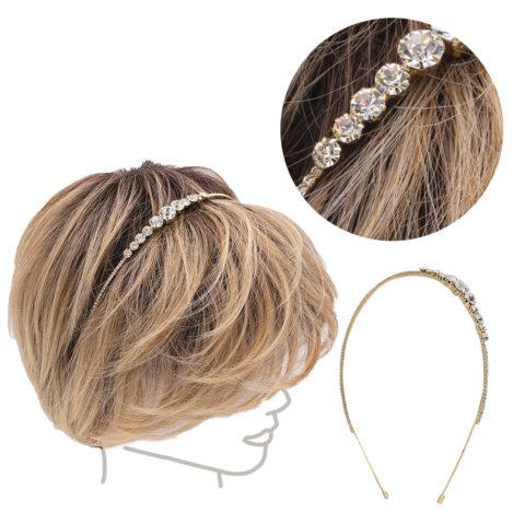 VIAHERMADA Stirnband für Haare mit Steinen und Strass