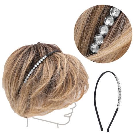 VIAHERMADA Dünnes Haarband mit Silberkristallen