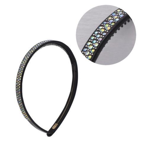 VIAHERMADA Haarband mit weißen Strasssteinen Set
