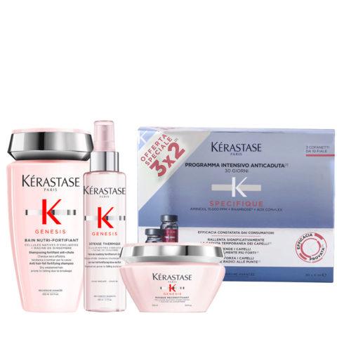 Kerastase Genesis Intensives Ernährungsritual Und Schutz Trockenes/Dickes Haar + Kerastase Specifique Cure anti chute