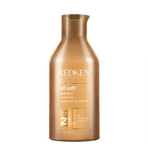 Redken All Soft Shampoo 300ml - Reinigungsshampoo für trockenes Haar