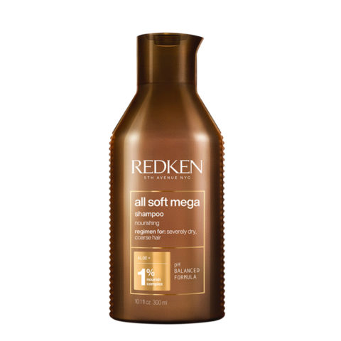 Redken All Soft Mega Shampoo 300ml - Shampoo für trockenes Haar
