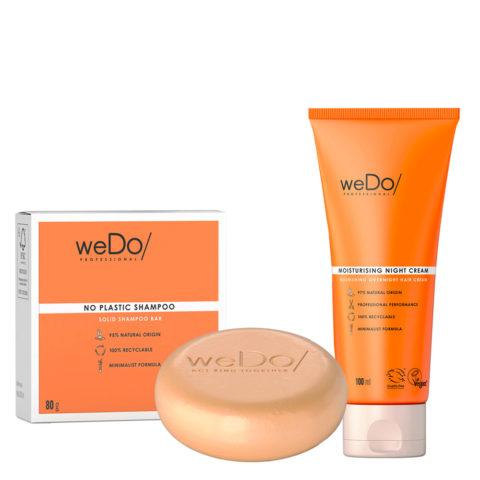 weDo No Plastic Festes Shampoo 80gr + weDo Nourishing Night Cream 90ml
