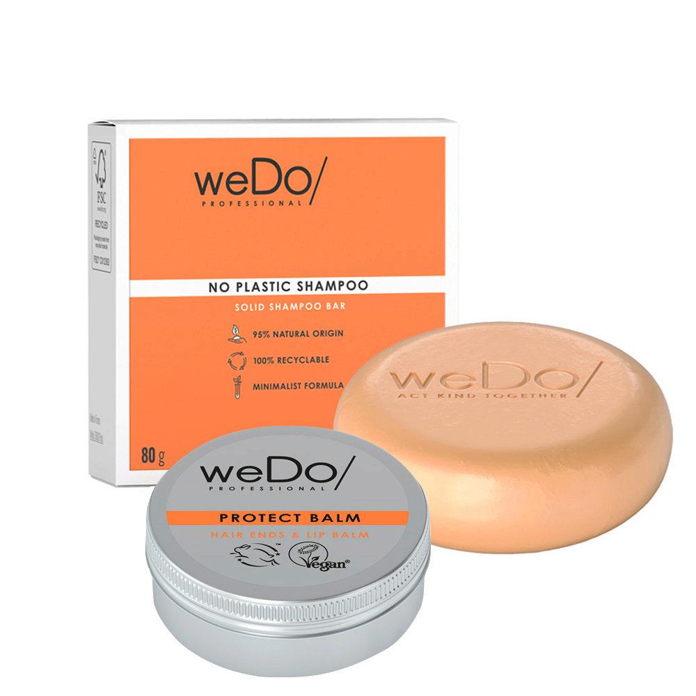 weDo No Plastic Festes Shampoo 80gr + Protect Balm 25gr