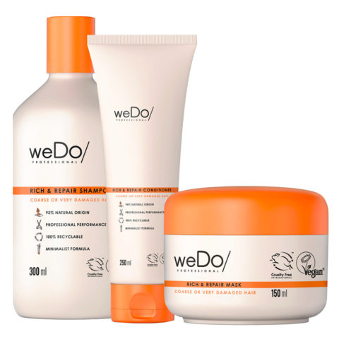 weDo Rich & Repair Shampoo 300ml + Conditioner 250ml + Mask 150ml