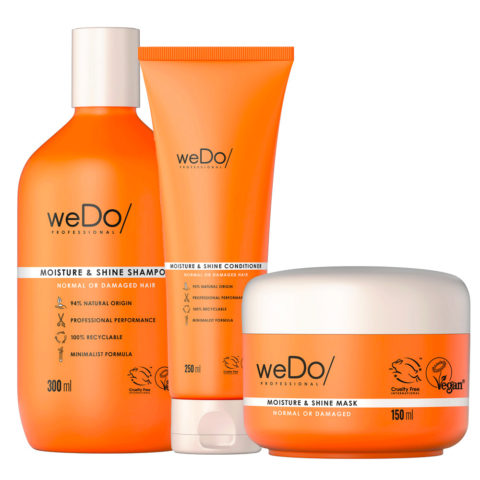 weDo Moisture & Shine Shampoo 300ml + Conditioner 250ml + Mask 150ml