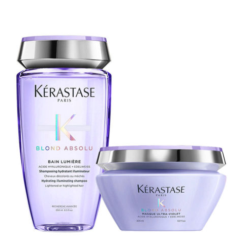 Kerastase Blond Absolu Bain lumiere 250ml + Masque ultra violet 200ml