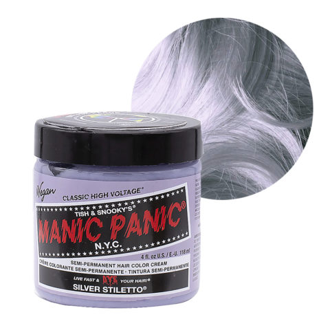 Manic Panic Classic High Voltage Silver Stiletto  118ml - Semi-permanente Farbcreme