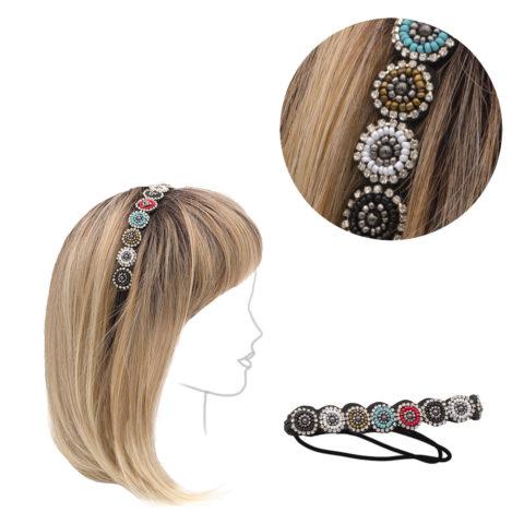 VIAHERMADA Elastisches Stirnband mit Dekorationen
