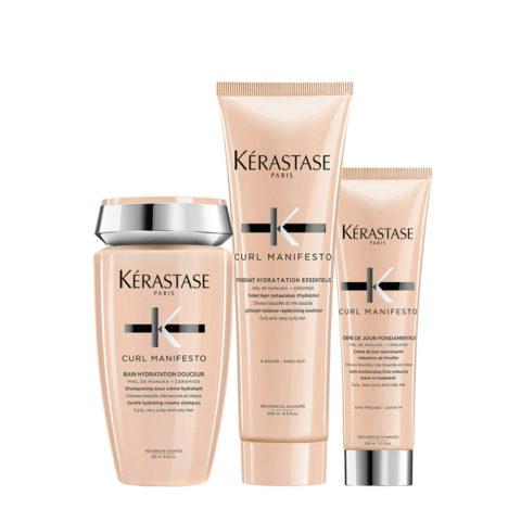 Kerastase Curl Manifesto Kit Lockiges Haar Shampoo 250ml Conditioner 250ml Creme 150ml
