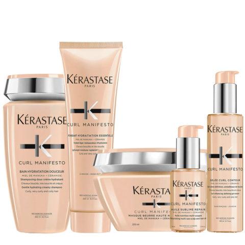 Kerastase Curl Manifesto Kit Lockiges Haar Shampoo250ml Maske250ml Conditioner250ml Öl50ml Creme150ml