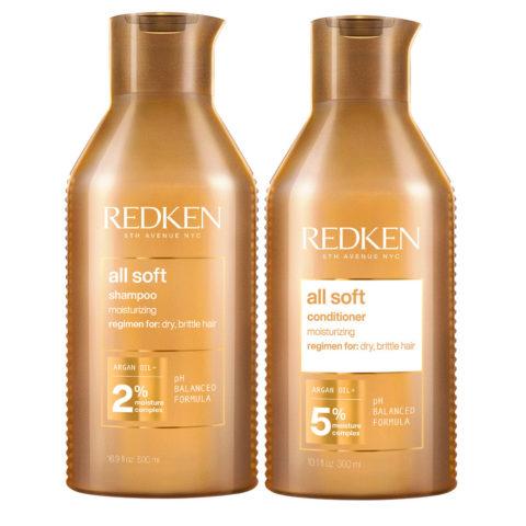 Redken All Soft Kit Shampoo 500ml und Conditioner 500ml - trockenes Haar