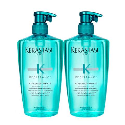 Kerastase Resistance Extentioniste Kit 2 Shampoo 500ml+ 500ml - das ihr Haarwachstum von den Wurzeln an stärk