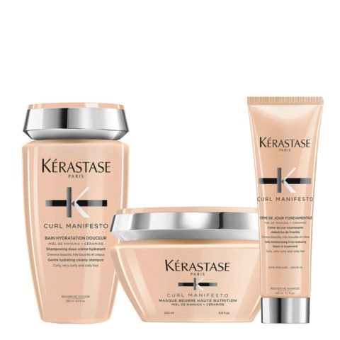 Kerastase Curl Manifesto Kit Shampoo 250ml  Masque 200ml Crème de Jour 150ml