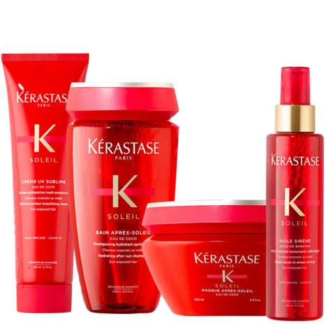 Kerastase Soleil Kit Protective Solar Cream 150ml Shampoo 250ml Mask 200ml Oil 150ml