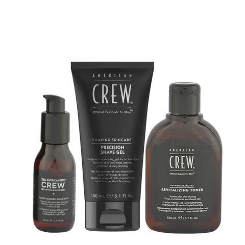 American Crew Rasierzeug Shave Oil 50ml Shave Gel 150ml Revitalizing Toner 150ml