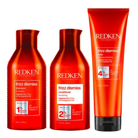 Redken Frizz Dismiss Kit Anti-Frizz Shampoo 300ml  Conditioner 300ml Maske250ml