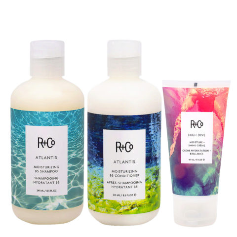 R+Co Atlantis Kit für trockenes Haar Shampoo 241ml Conditioner für trockenes Haar 241ml Cream 147ml