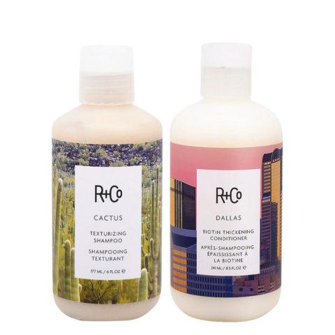 R+Co Dallas Kit für zerbrechliches und feines Haar Volumizing Shampoo 177ml Conditioner 241ml