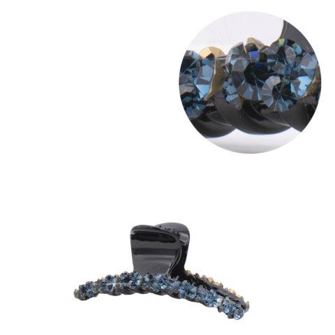 VIAHERMADA Haarzange mit blauen schrägen Kristallen