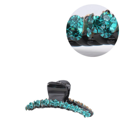VIAHERMADA Haarzange mit grünen schrägen Kristallen